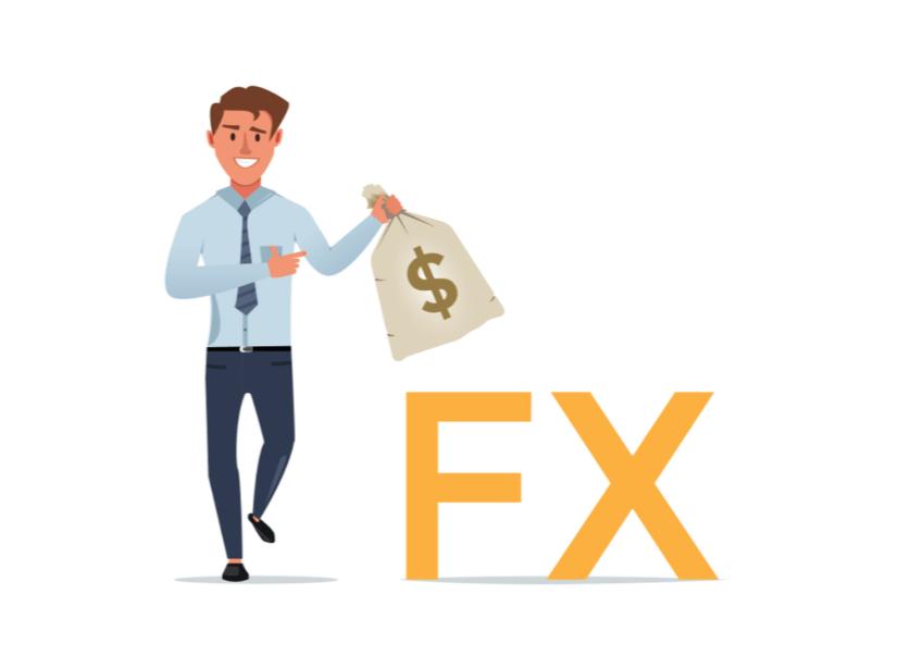 FX自動売買 トラッキングトレードを開始しようとしているユーザーのイラスト